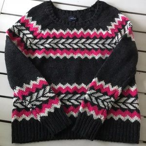 American Eagle large chunky wool blend sweater